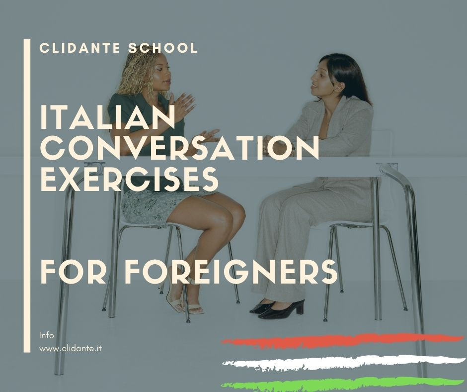 Italian conversation exercises for foreigners